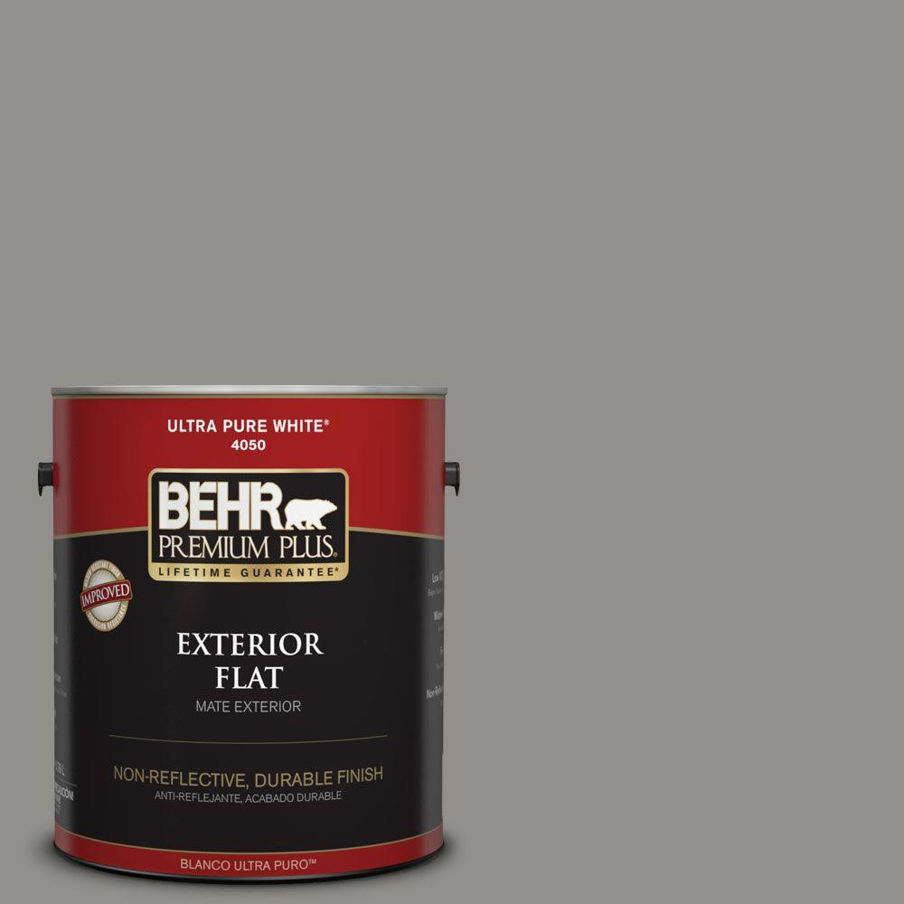 Home Decorators Collection 1-gal. #HDC-AC-19 Grant Gray Flat Exterior Paint