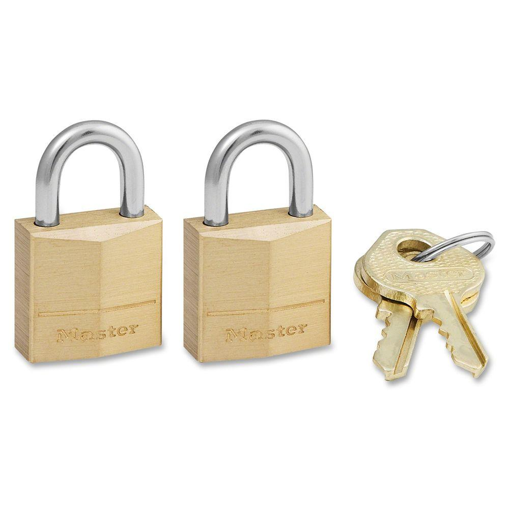 Master Lock Solid Body Padlock (2-Pack)-MLK120T - The Home Depot