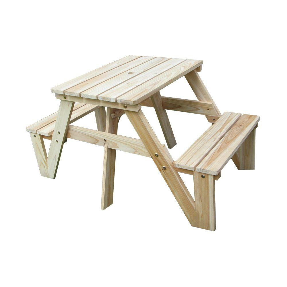 Nature All-Weather Wicker Patio Kids Picnic Table