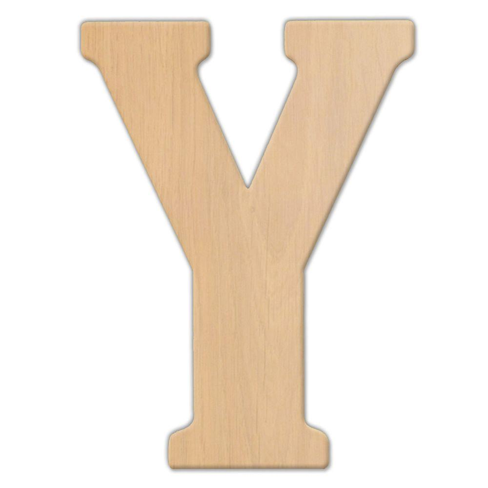 Jeff McWilliams Designs 15 in. Oversized Unfinished Wood Letter (Y)