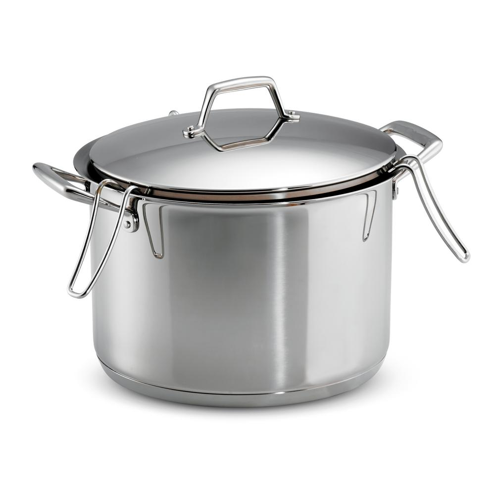 Gourmet Prima 12 Qt. Stainless Steel Stock Pot with Pasta Inserts