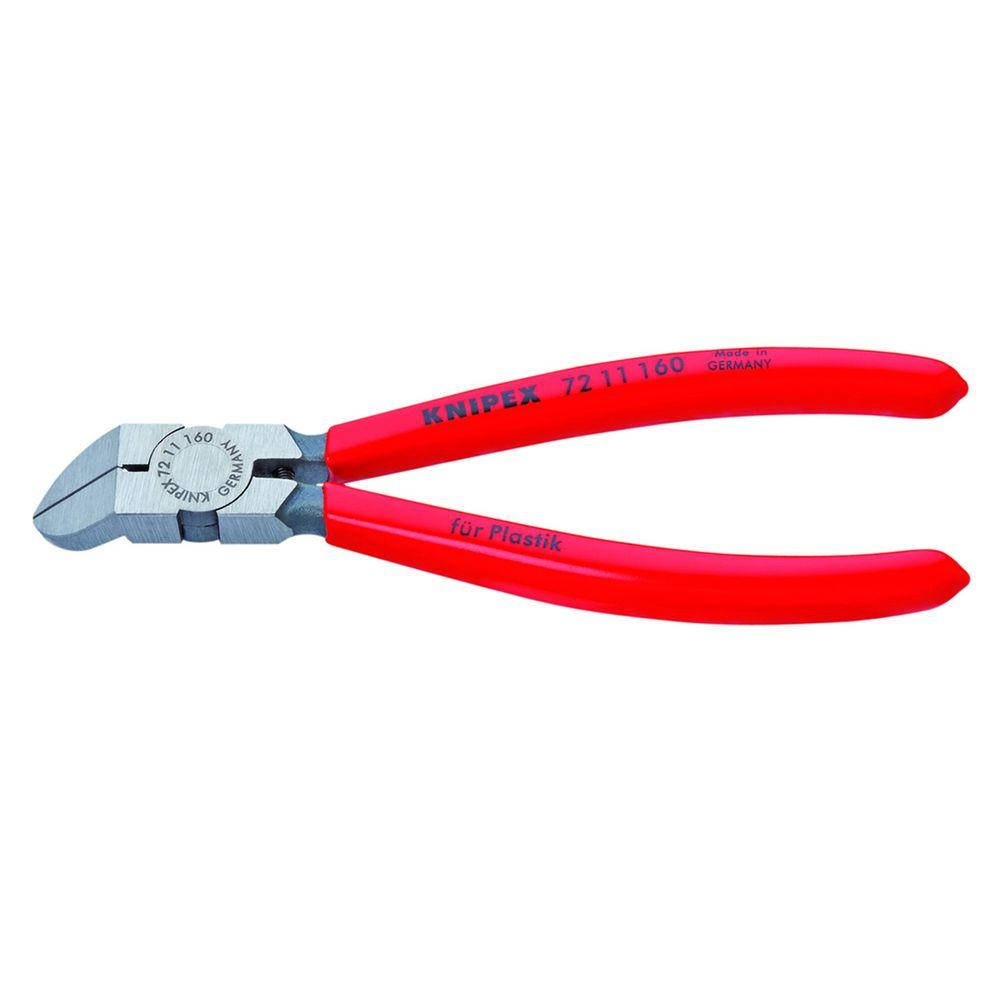 KNIPEX 6-1/4 in. 45 Degree Angle Diagonal Flush Cutters-72 11 160