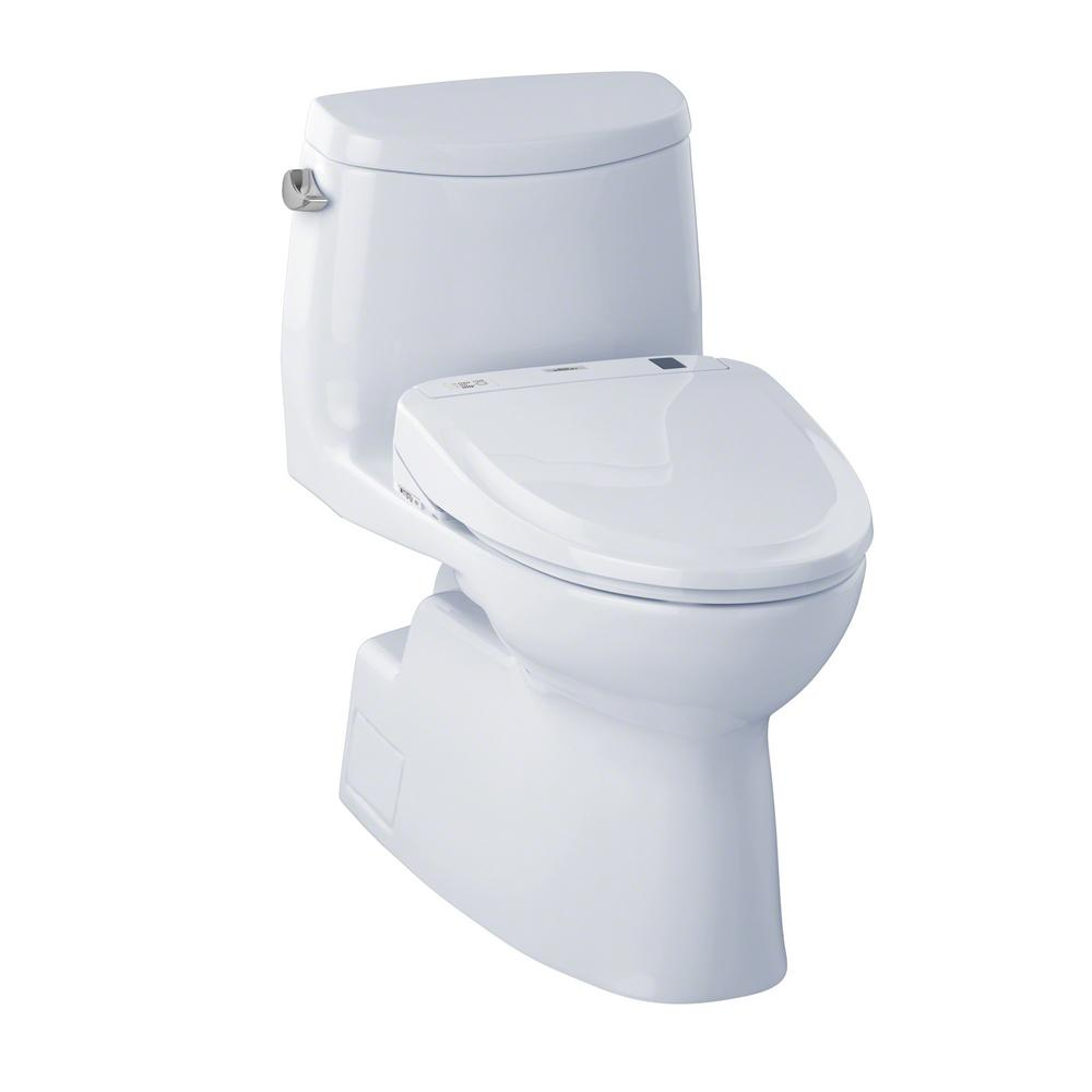 Carlyle II S300E Connect+ Washlet Elongated Bidet in Cotton White