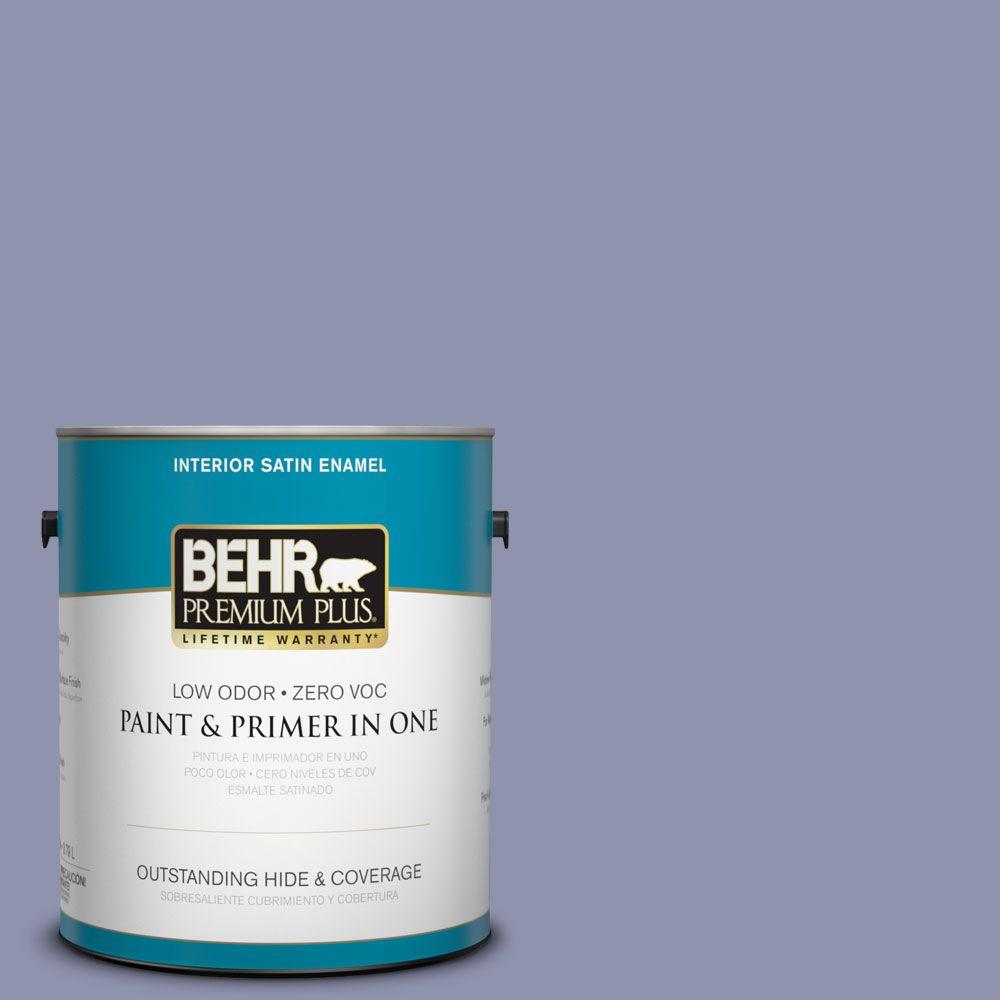 Interior Paint, Exterior Paint & Paint Samples: BEHR Premium Plus Paint 1-gal. #S560-4 Monarchy Satin Enamel Interior Paint 740001