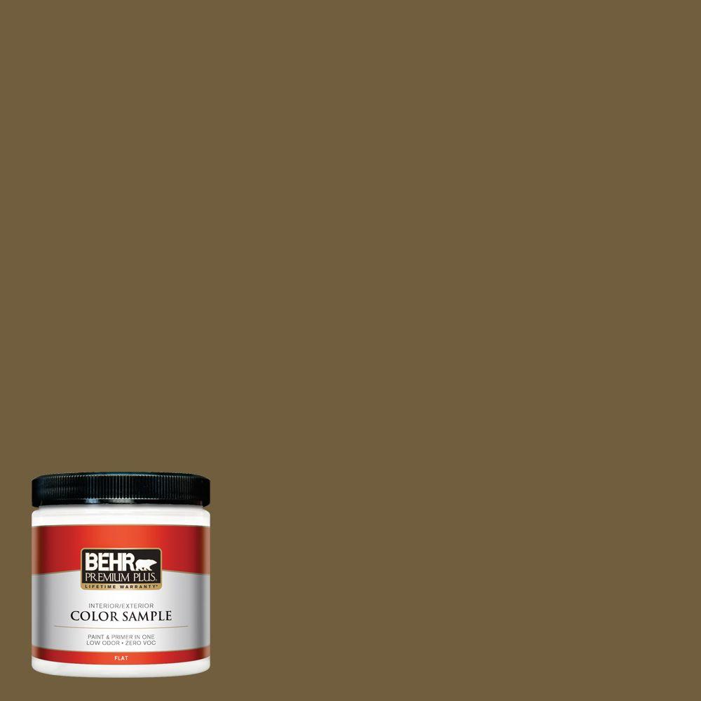 8 oz. #360F-7 Olive Shadow Interior/Exterior Paint Sample