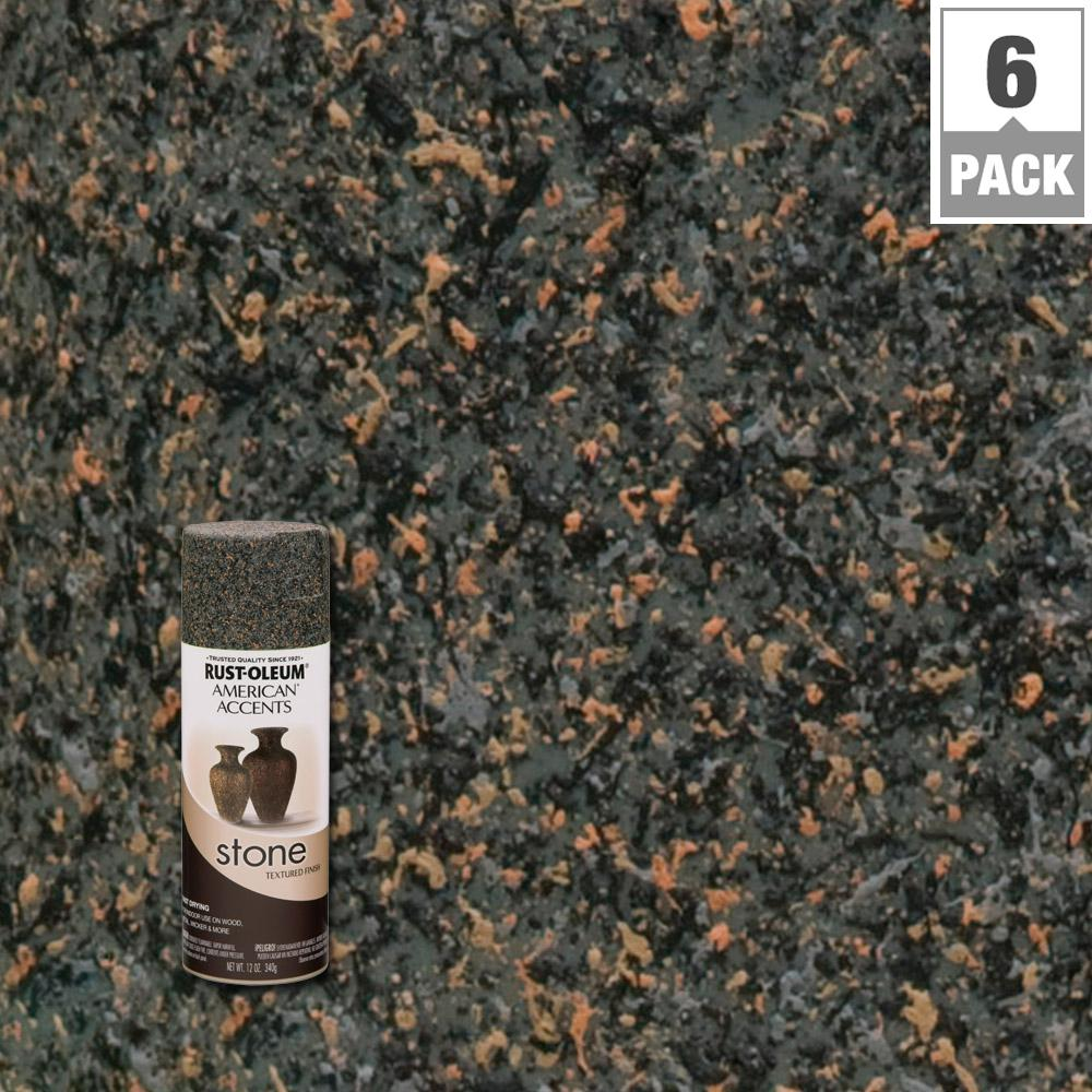 nice stone textured spray paint Part - 1: Rust-Oleum American Accents 12 oz. Stone Granite Stone Textured Finish Spray  Paint (