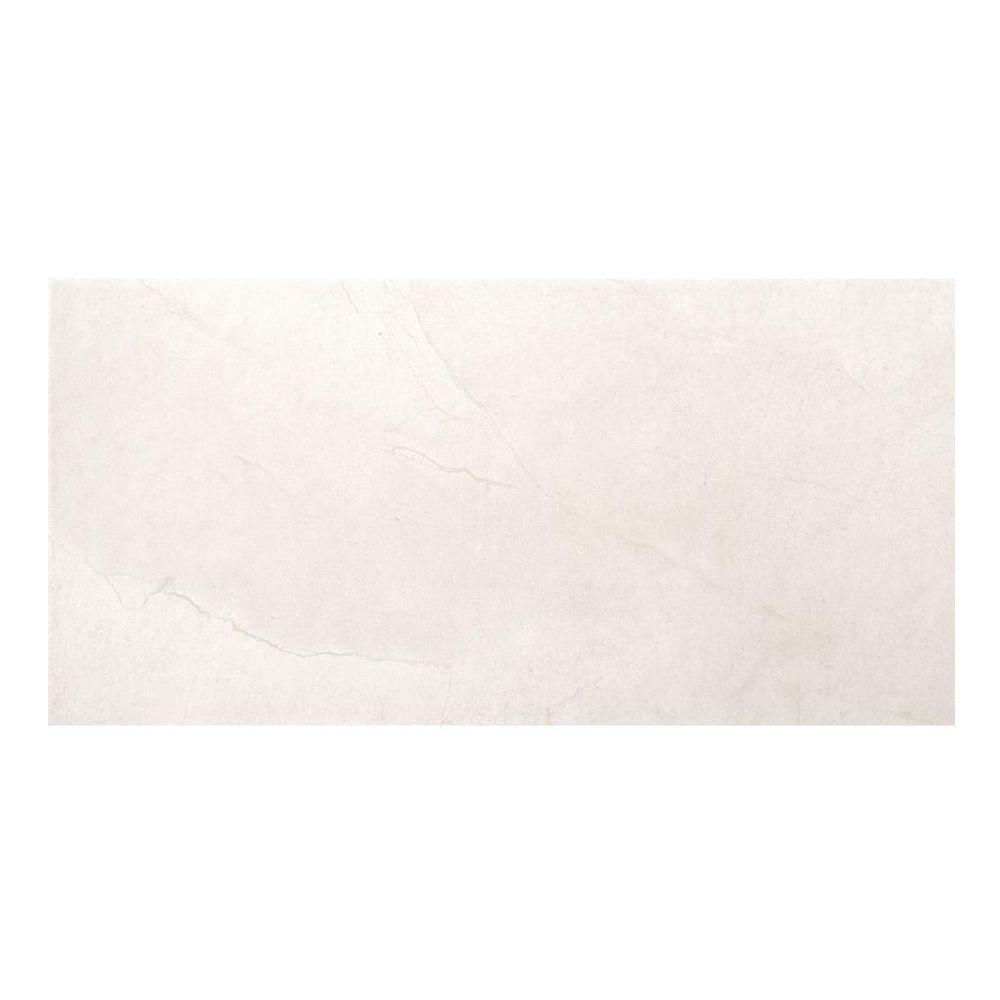 St. Moritz Ivory 12 in. x 24 in. Porcelain Floor and