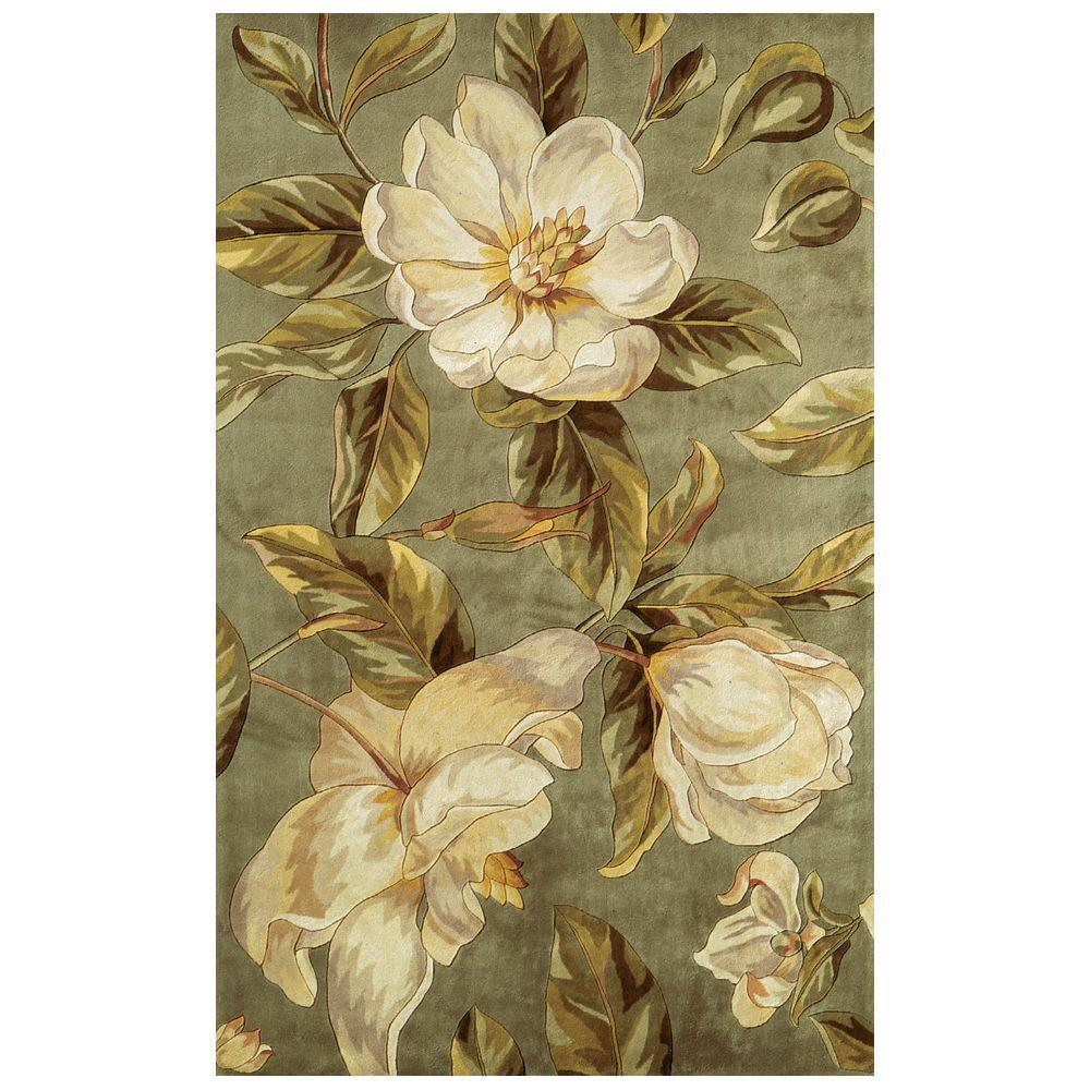 Kas Rugs Southern Magnolia Sage 7 ft. 9 in. x 10