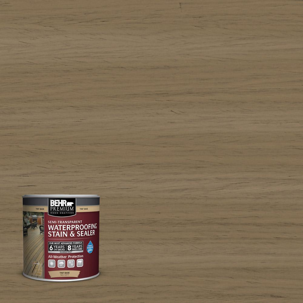 8 oz. #ST153 Taupe Semi-Transparent Waterproofing Stain and Sealer Sample
