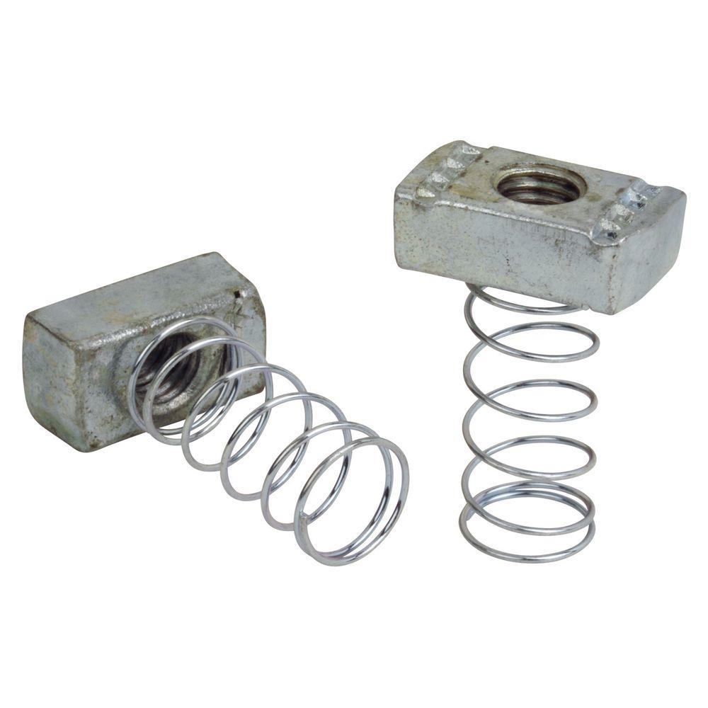 1/2 in. Channel Spring Nuts (Case of 10/5-Pack)