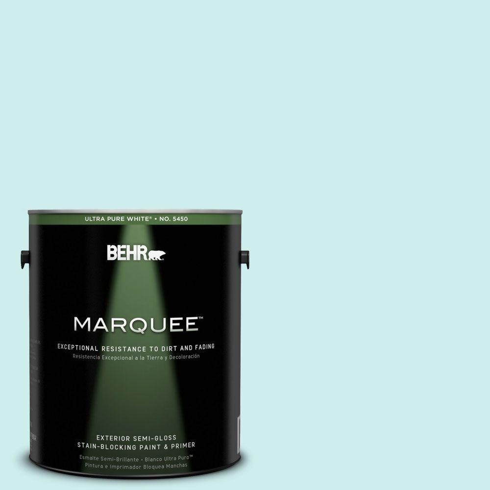 BEHR MARQUEE 1-gal. #510C-1 Ionic Sky Semi-Gloss Enamel Exterior Paint-545001 -