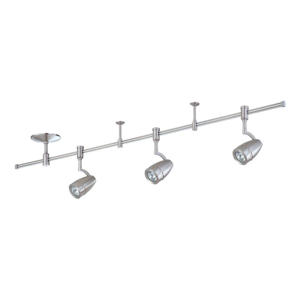 RK34 Series 4 ft. 3-Light Satin Nickel Track Lighting Kit