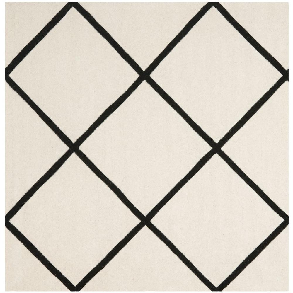 Safavieh Chatham Ivory/Black 7 ft. x 7 ft. Square Area Rug-CHT720A-7SQ