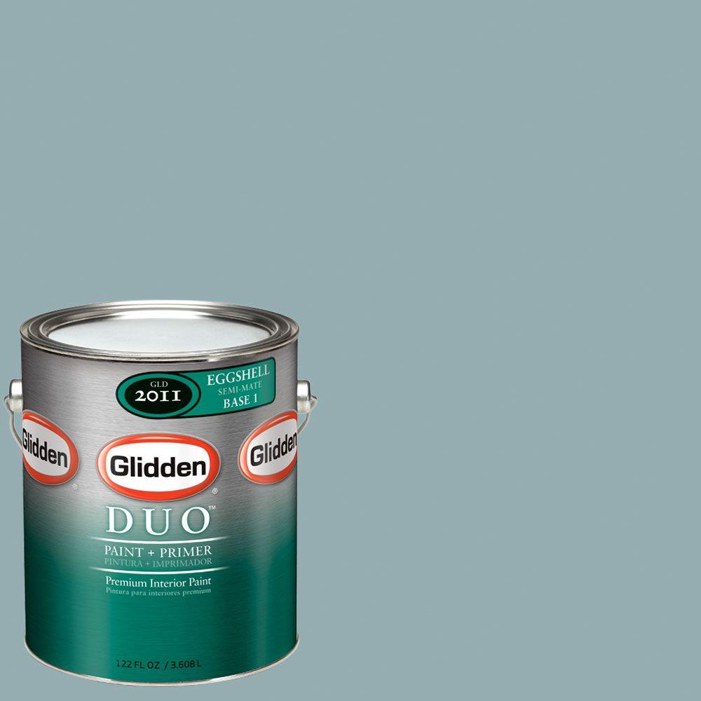 Glidden DUO Martha Stewart Living 1-gal. #MSL127-01E Geyser Eggshell Interior Paint with Primer-DISCONTINUED