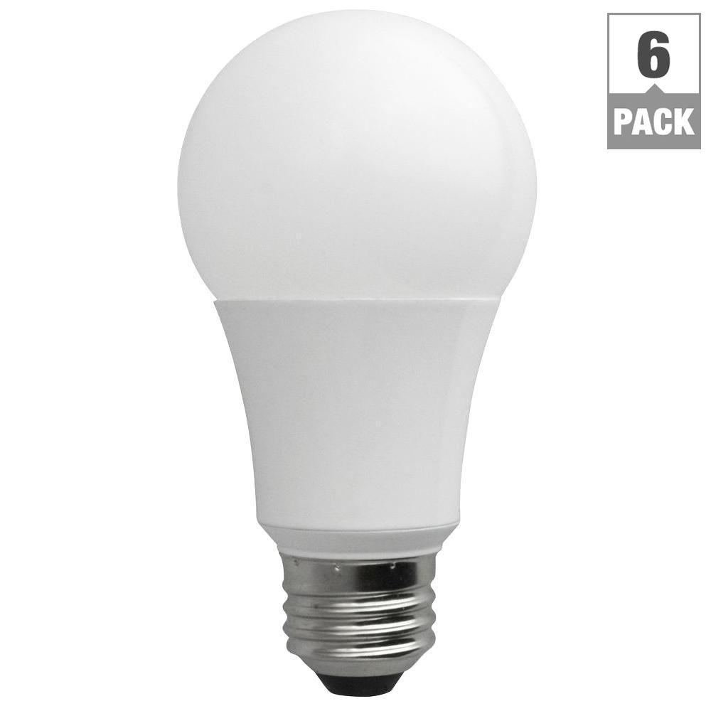 TCP 60W Equivalent Soft White A19 Non-Dimmable LED Light Bulb (6-Pack)