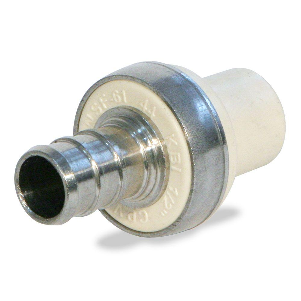 KBI 3/4 in. CPVC CTS PEX x Socket Lead Free Stainless Steel Transition Adaptor