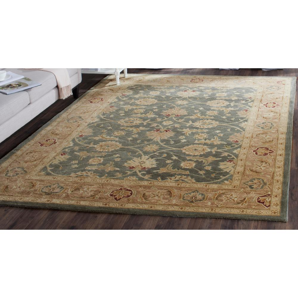 Antiquity Teal Blue/Taupe (Teal Blue/Brown) 7 ft. 6 in. x 9 ft. 6 in. Area Rug