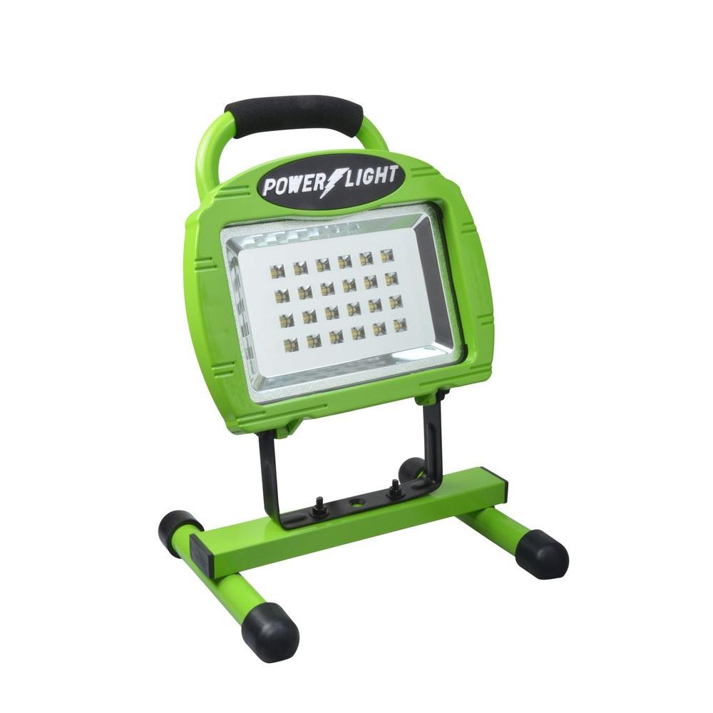 High Intensity Green 24-LED Rechargeable Portable Work Light