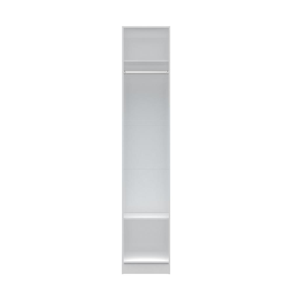 Chelsea 17.71 in. W White Long Hanging Closet
