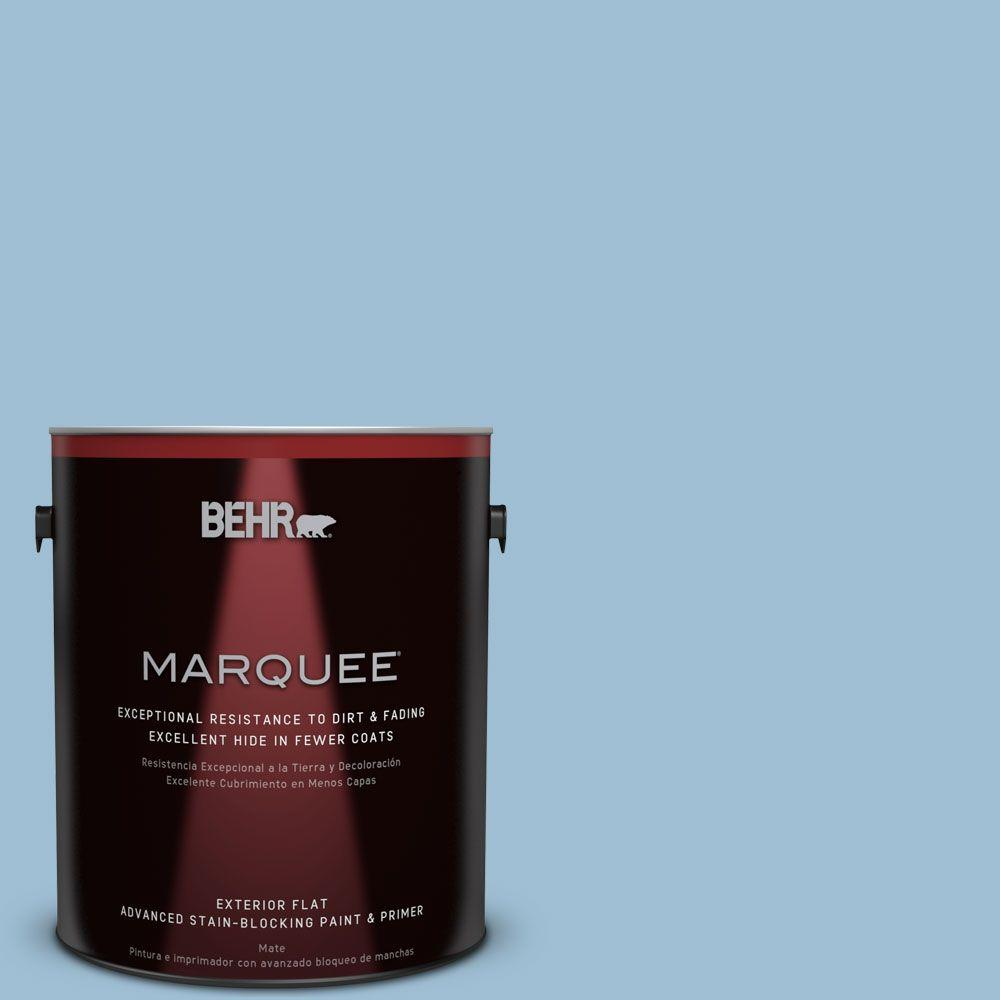BEHR MARQUEE 1-gal. #PPU14-11 Gentle Sky Flat Exterior Paint
