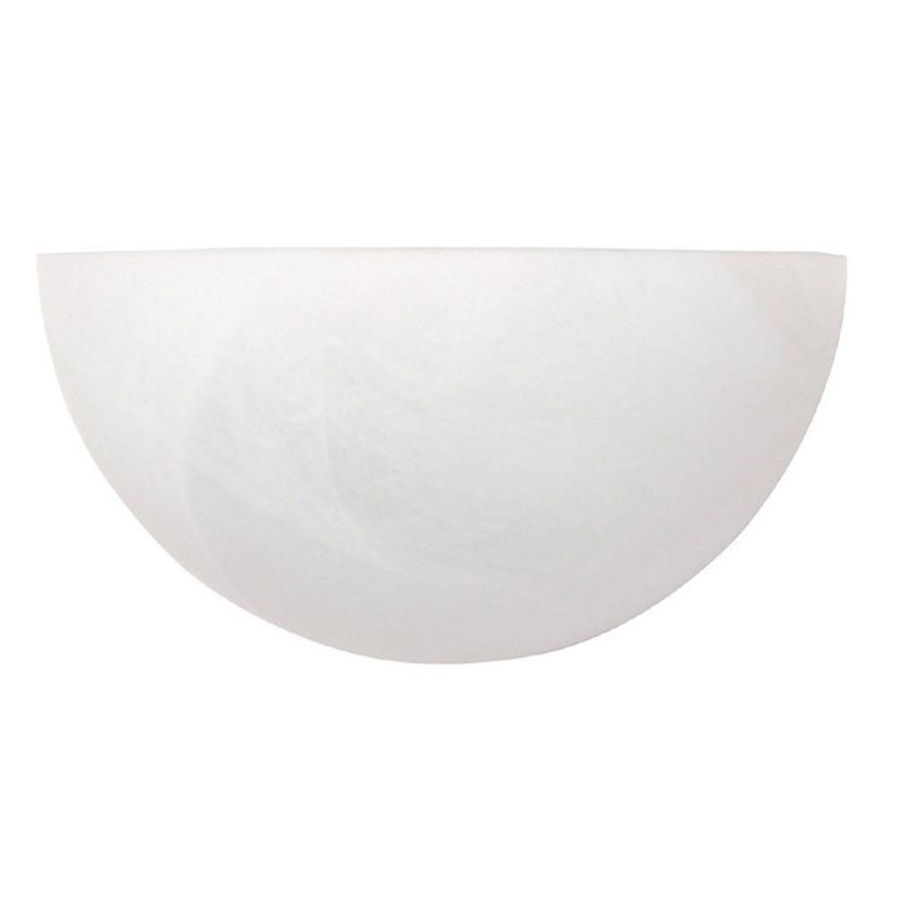 Filament Design Nadine 1-Light Matte White Sconce with Faux White Alabaster Glass