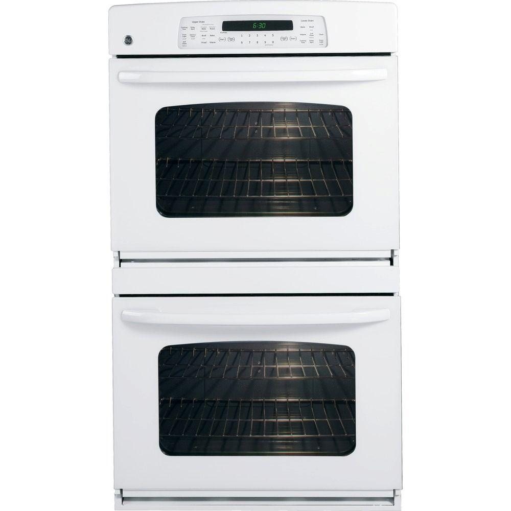 24 In White Double Electric Wall Ovens Electric