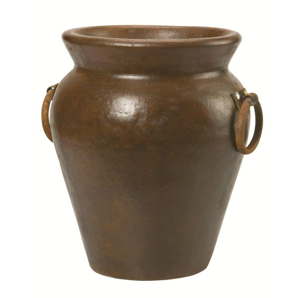 Pennington 11-1/2 in. x 12-1/2 in. Clay Belize Urn in Tobacco-100016693