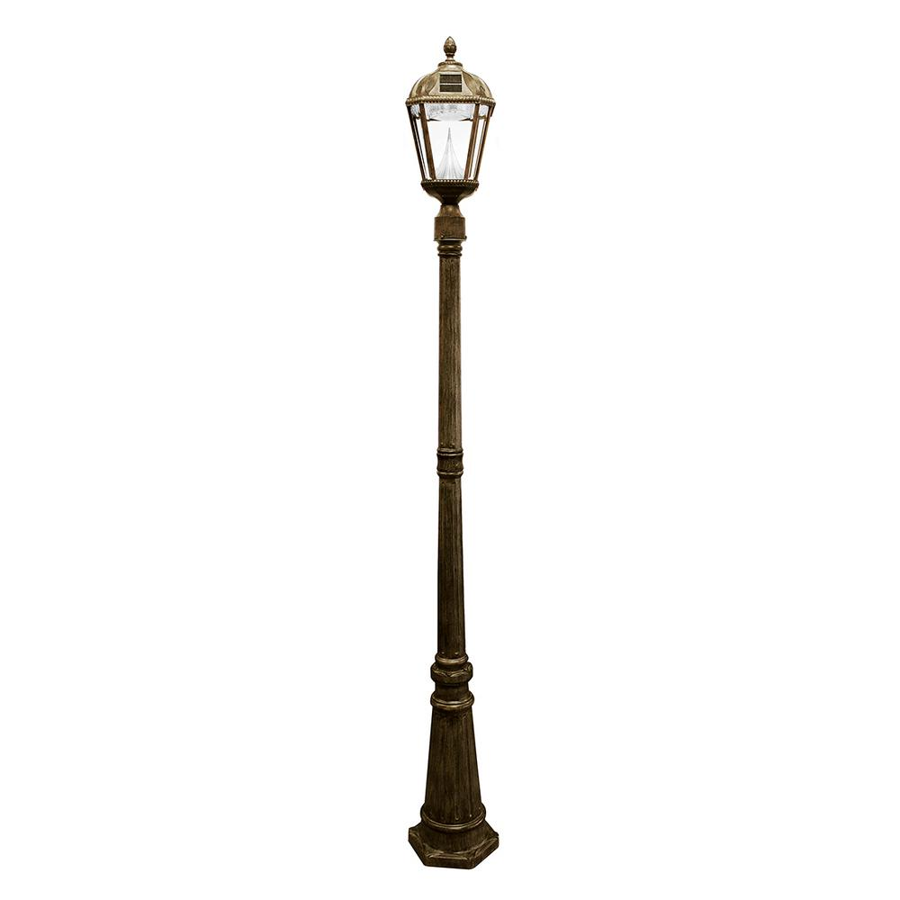 Royal Solar Weathered Bronze Outdoor Lamp Post