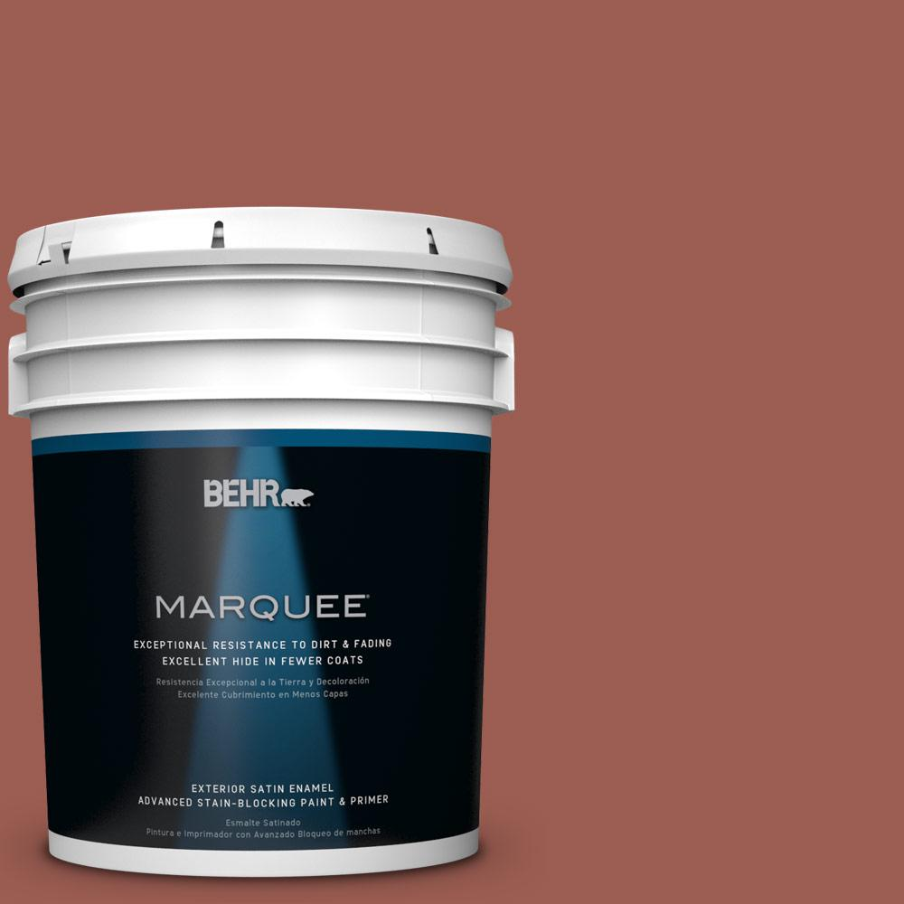 BEHR MARQUEE 5-gal. #S160-6 Red Potato Satin Enamel Exterior Paint-945305 -