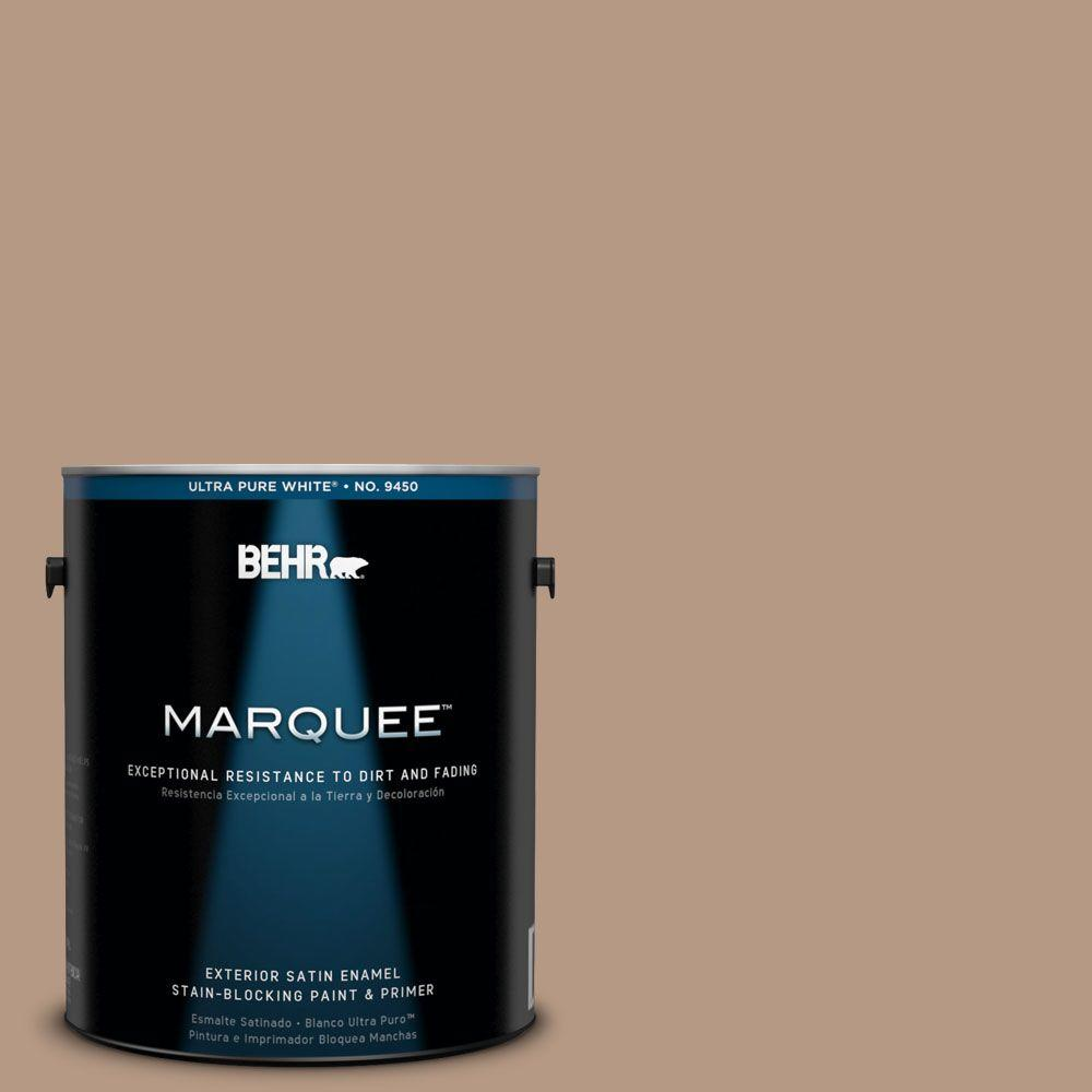 BEHR MARQUEE 1-gal. #250F-4 Stone Brown Satin Enamel Exterior Paint-945401 -