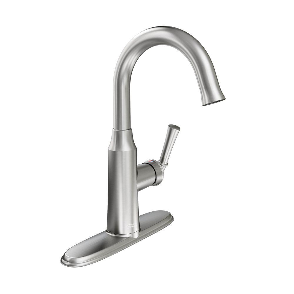 Portsmouth 1-Handle Pull-Down Bar Faucet in Stainless Steel