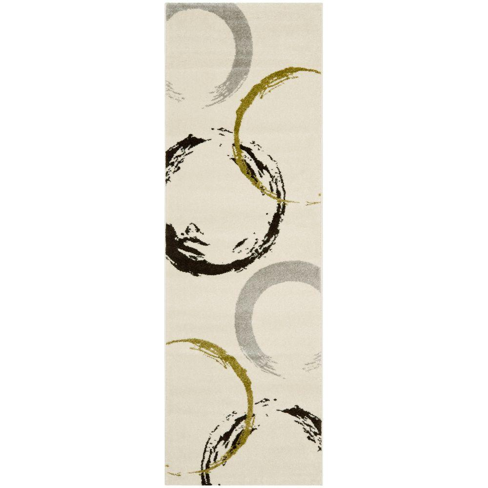 Porcello Ivory/Green 2 ft. 4 in. x 6 ft. 7 in.