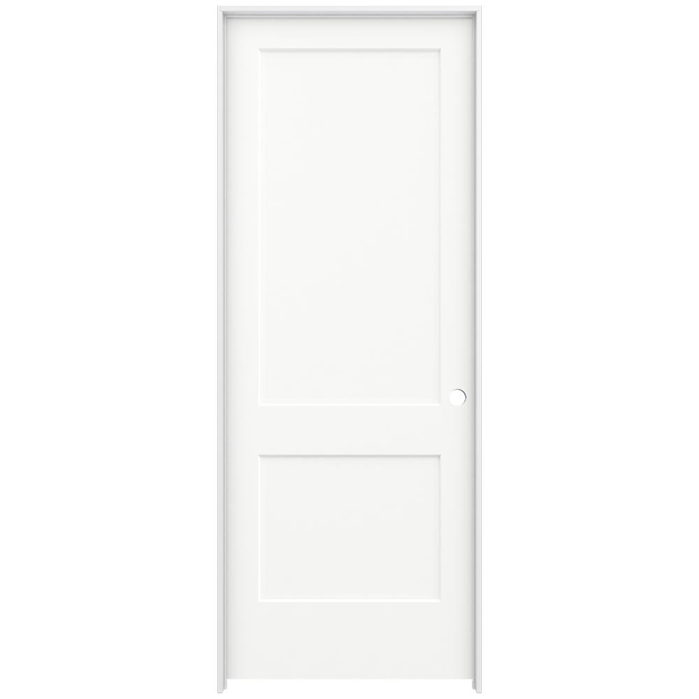 Jeld Wen 36 In X 96 In Monroe White Painted Left Hand Smooth Solid Core Molded Composite Mdf