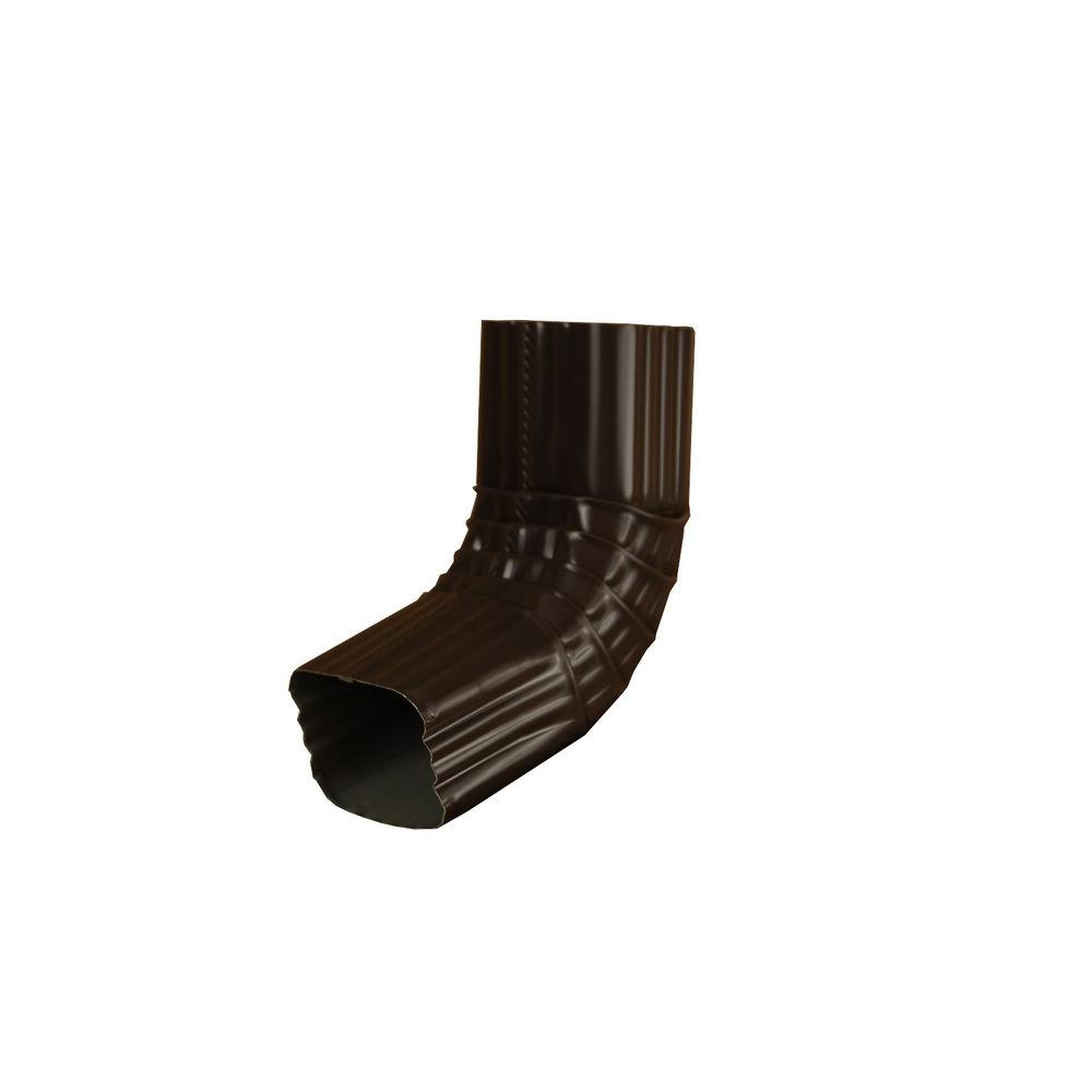 3 in. x 4 in. Musket Brown Aluminum Downspout A Elbow