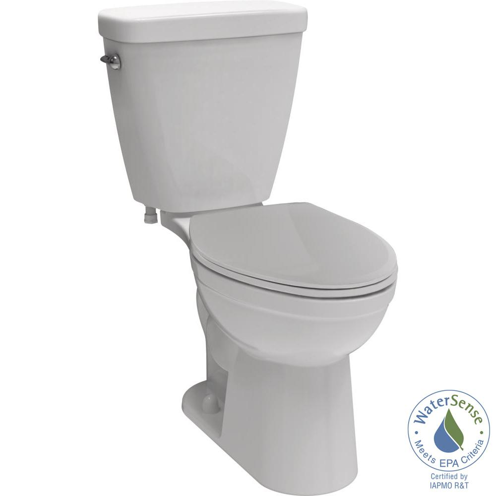 Delta Prelude 2-piece 1.28 GPF Elongated Front Toilet in White