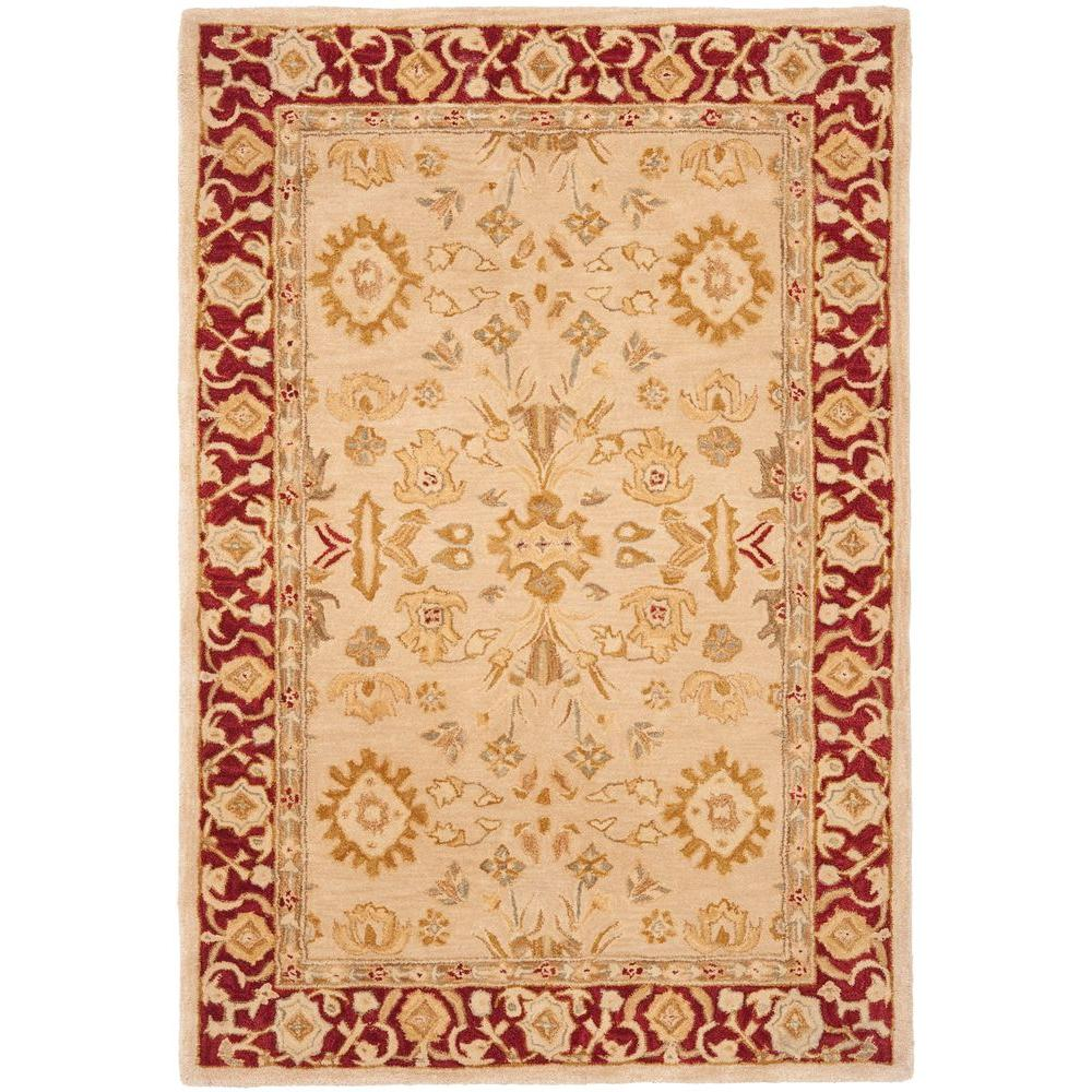 Safavieh Anatolia Ivory/Red 9 ft. 6 in. x 13 ft. 6