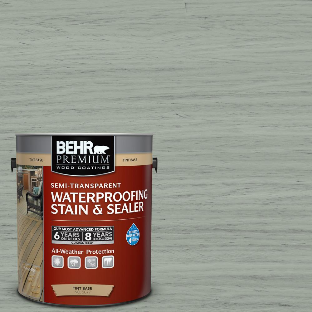BEHR Premium 1 gal. #ST-149 Light Lead Semi-Transparent Waterproofing Stain and Sealer