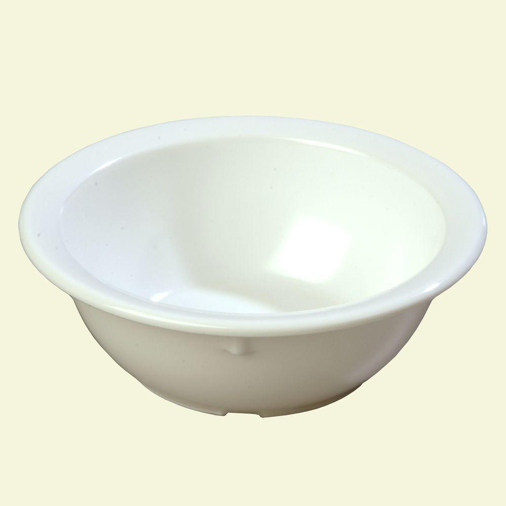 12.5 oz., 5.72 in. Diameter Melamine Rimmed Nappy Bowl in White