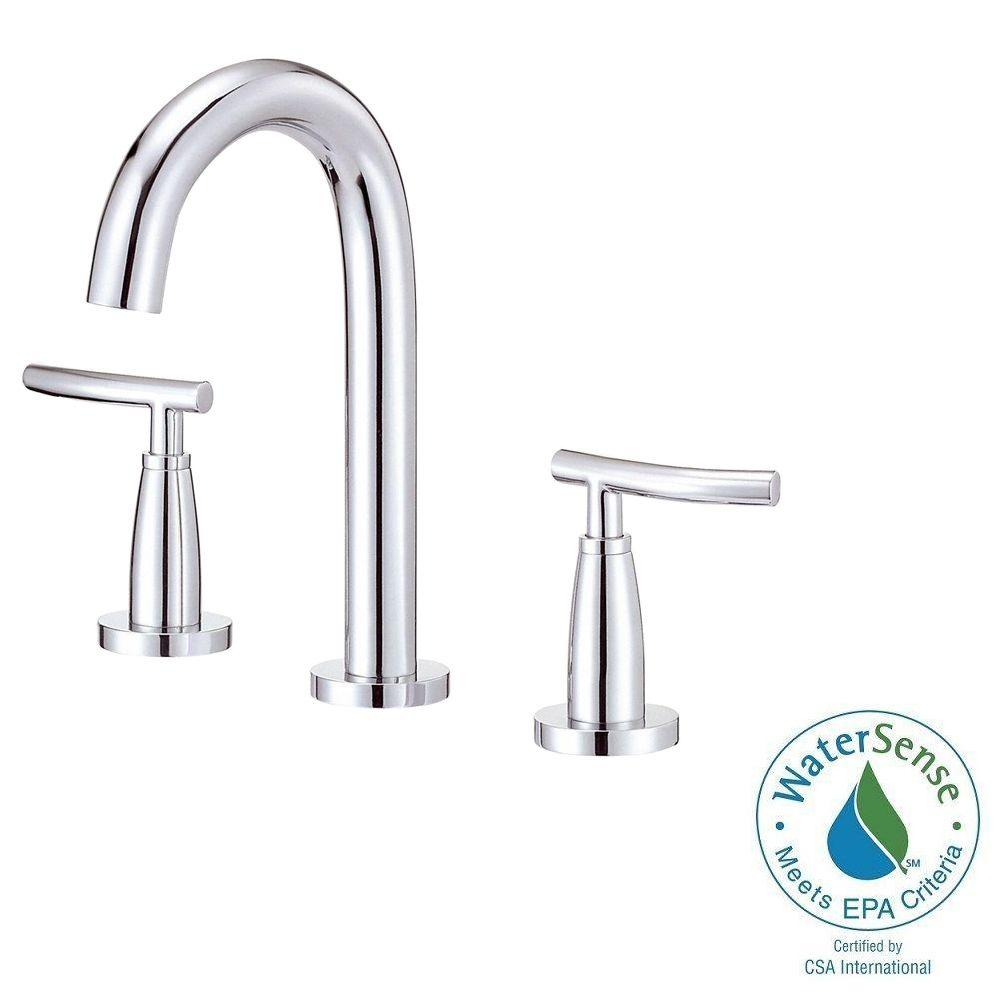 Danze Sonora 4 In Mini Widespread 2 Handle Mid Arc Bathroom Faucet In Chrome D304554 The Home