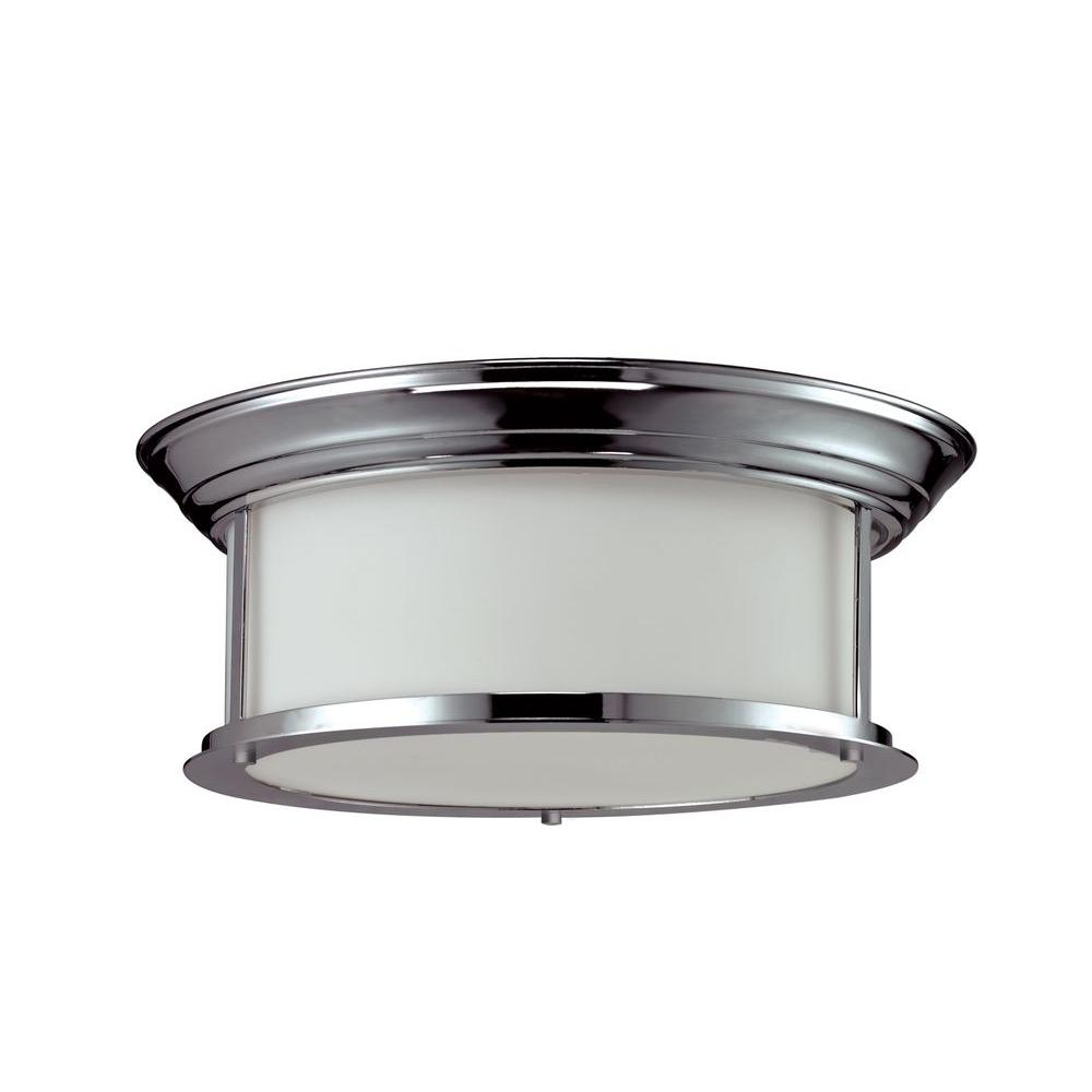 Filament Design Perry 3-Light Chrome Flushmount with Matte Opal