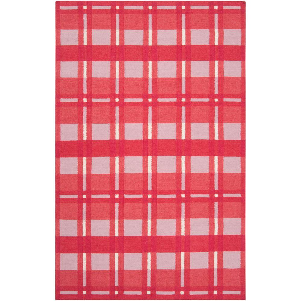 Surya Country Living Hot Pink 8 ft. x 11 ft. Flatweave