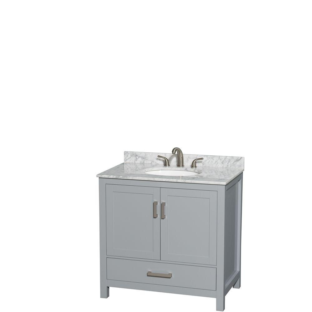 Wyndham Collection Sheffield 36 in. W x 22 in. D Vanity