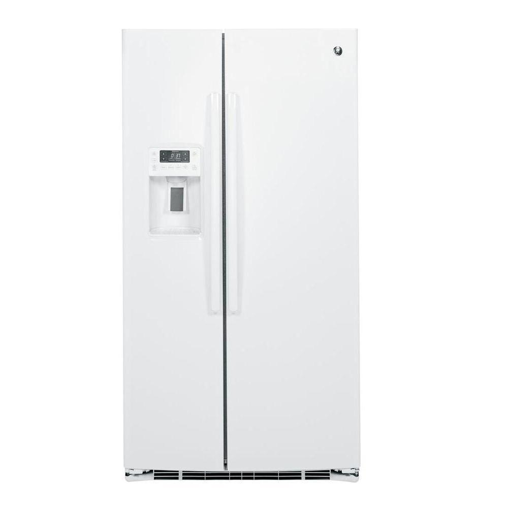 GE Profile 25.4 cu. ft. Side by Side Refrigerator in White