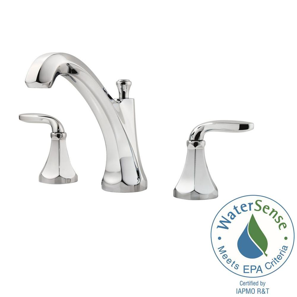 Art deco bathroom faucets - Widespread 2 Handle Bathroom Faucet In Polished Chrome