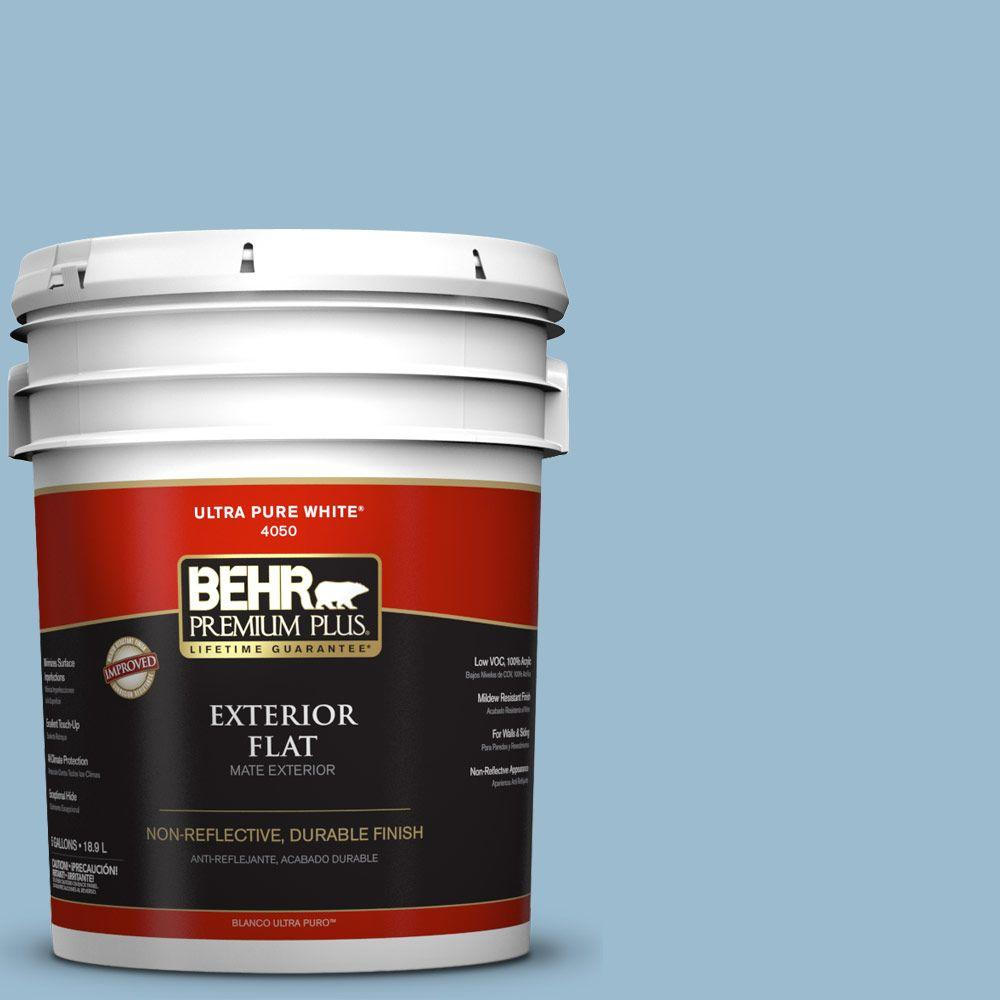 BEHR Premium Plus 5-gal. #S500-3 Partly Cloudy Flat Exterior Paint