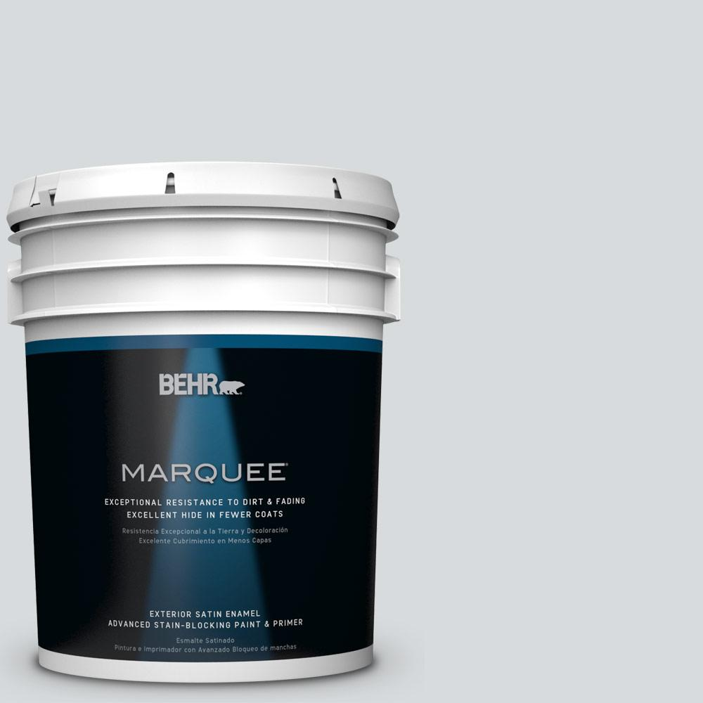 BEHR MARQUEE 5 gal. #PPU26-14 Drizzle Satin Enamel Exterior Paint-945005 -