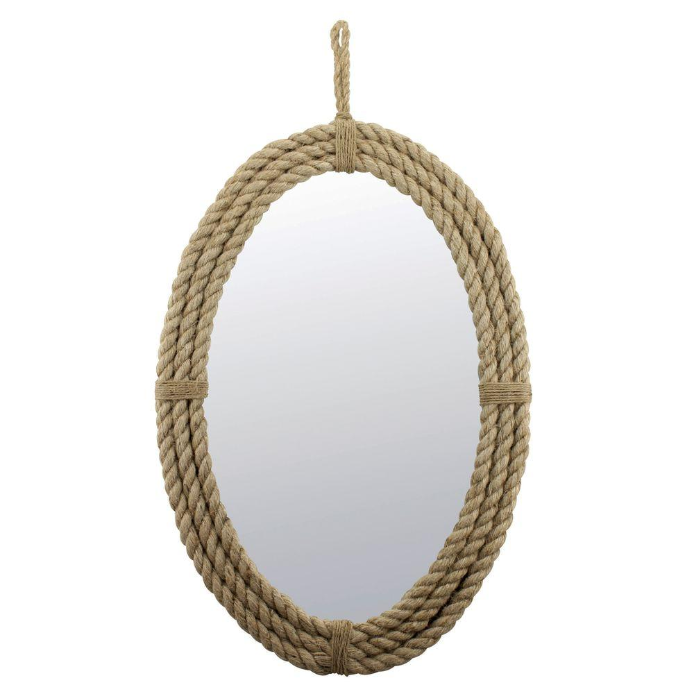 Stonebriar collection in h x in w oval rope for Mirror 50 x 50