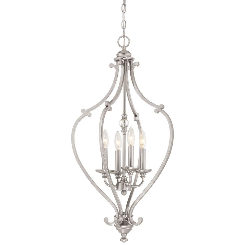 Minka Lavery Savannah Row 4-Light Brushed Nickel Chandelier-3333-84 - The Home