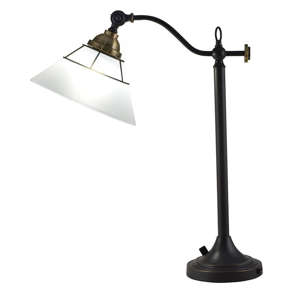 Laurel 22.5 in. Oil Rubbed Bronze Desk Lamp with Shade
