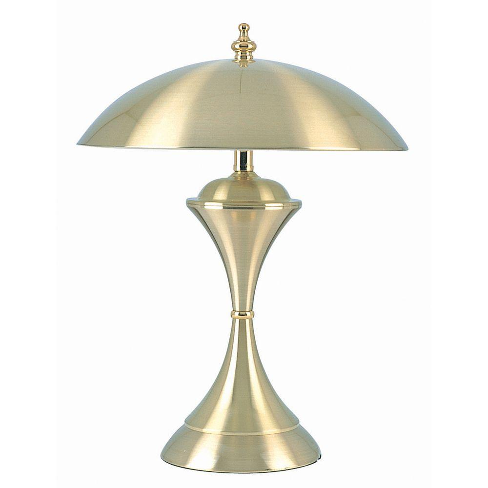 ORE International 15 in. Brushed Gold Touch Lamp